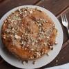 Gedeckter Quittenkuchen mit Mandeln