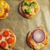 Gesunde Snack Mini Pizzen