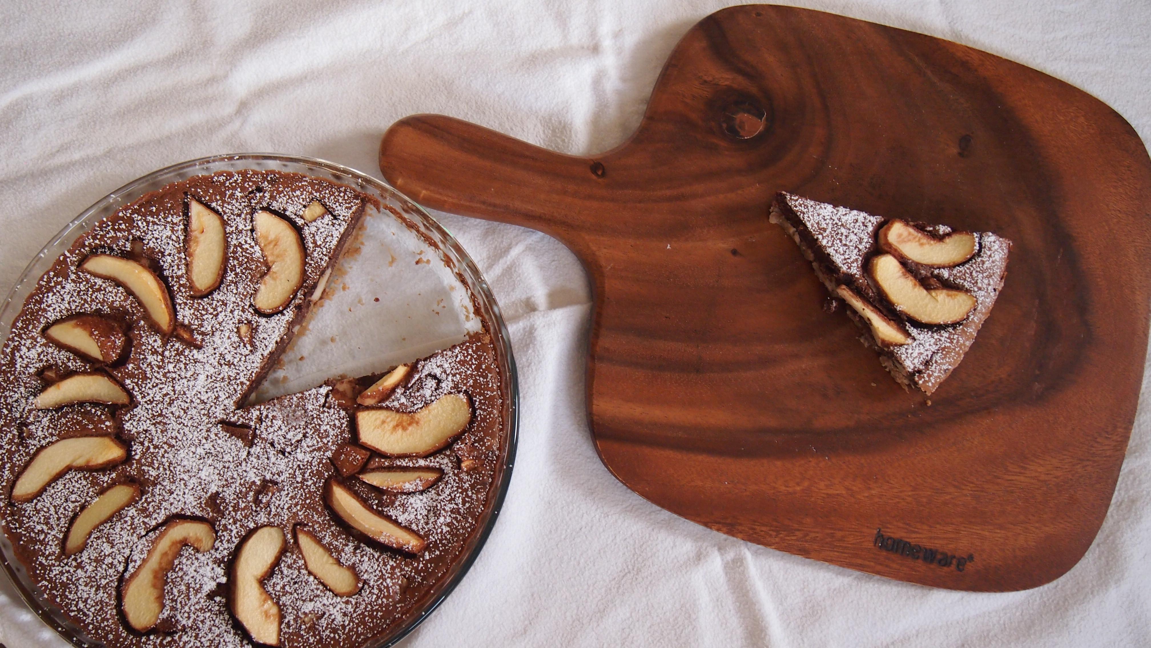 Quitten Schokoladenkuchen mit Maronenboden