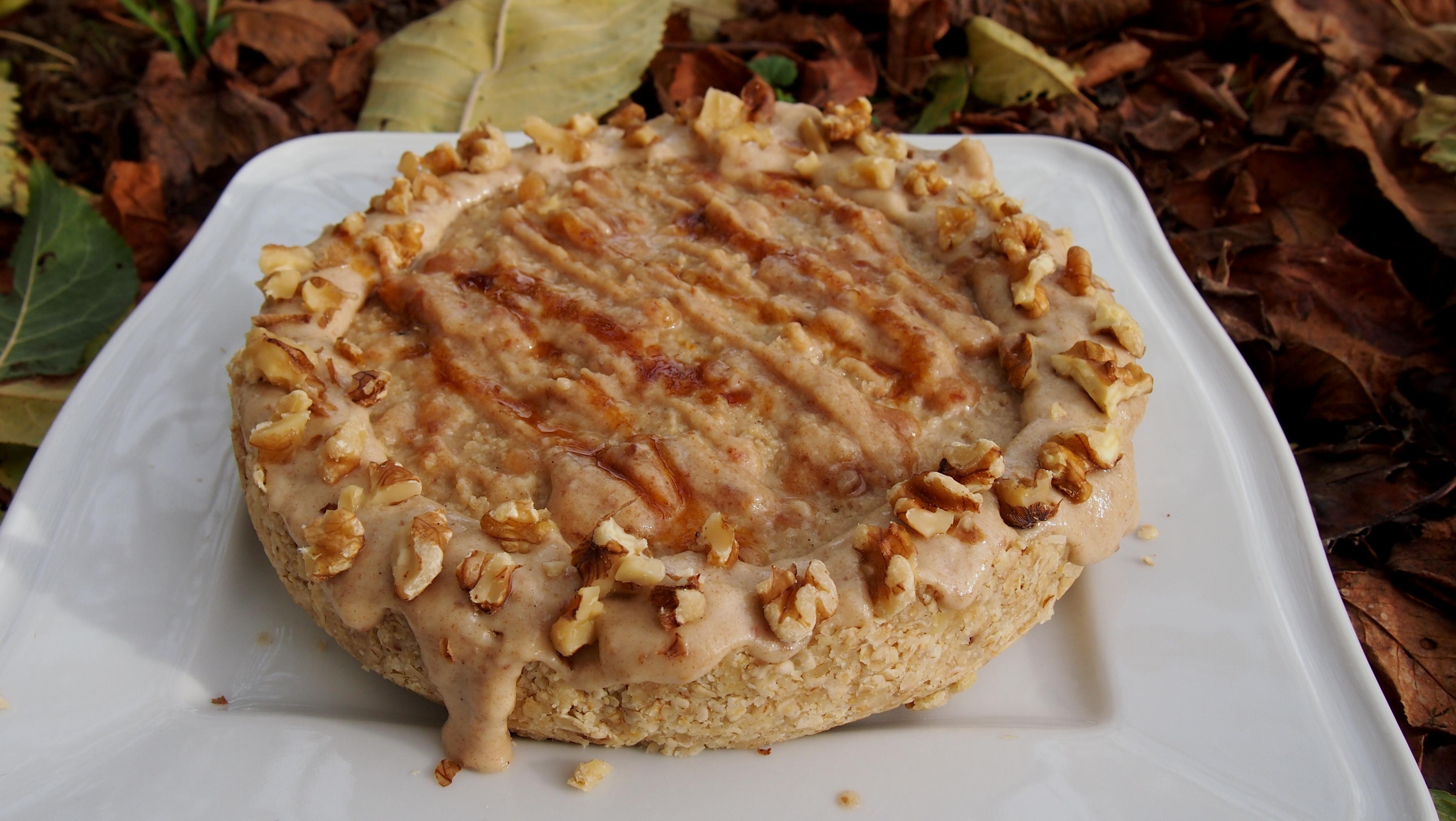 Veganer Käsekuchen mit Sesammus