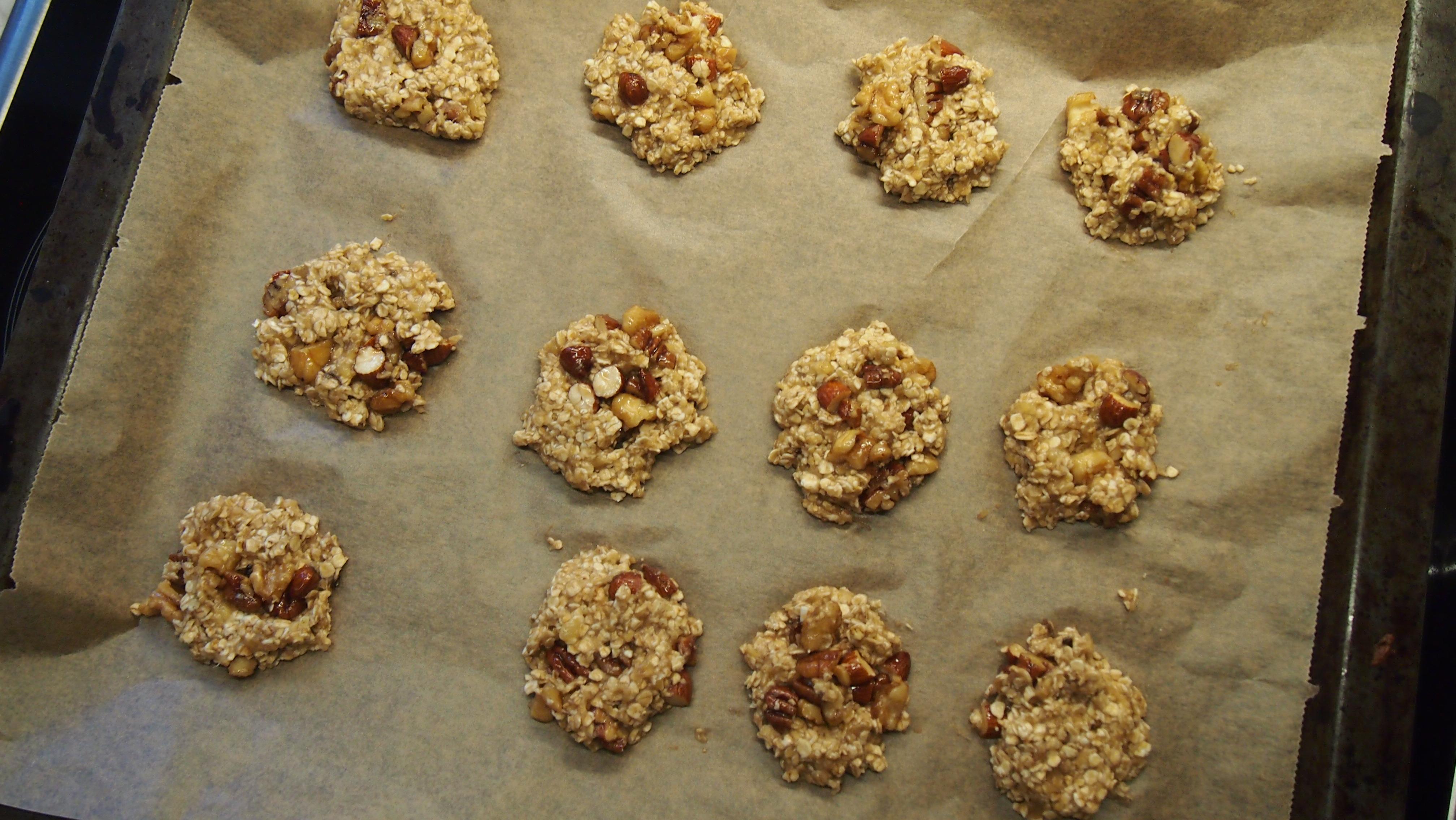 Bananen Nuss Cookies