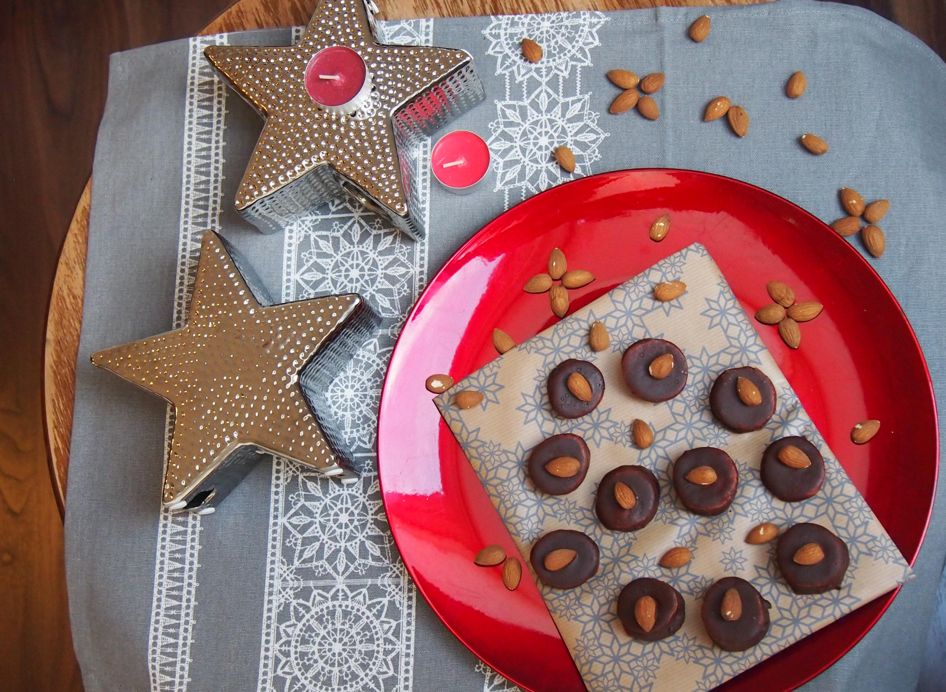 Schokoladen Mandel Plätzchen / Kekse