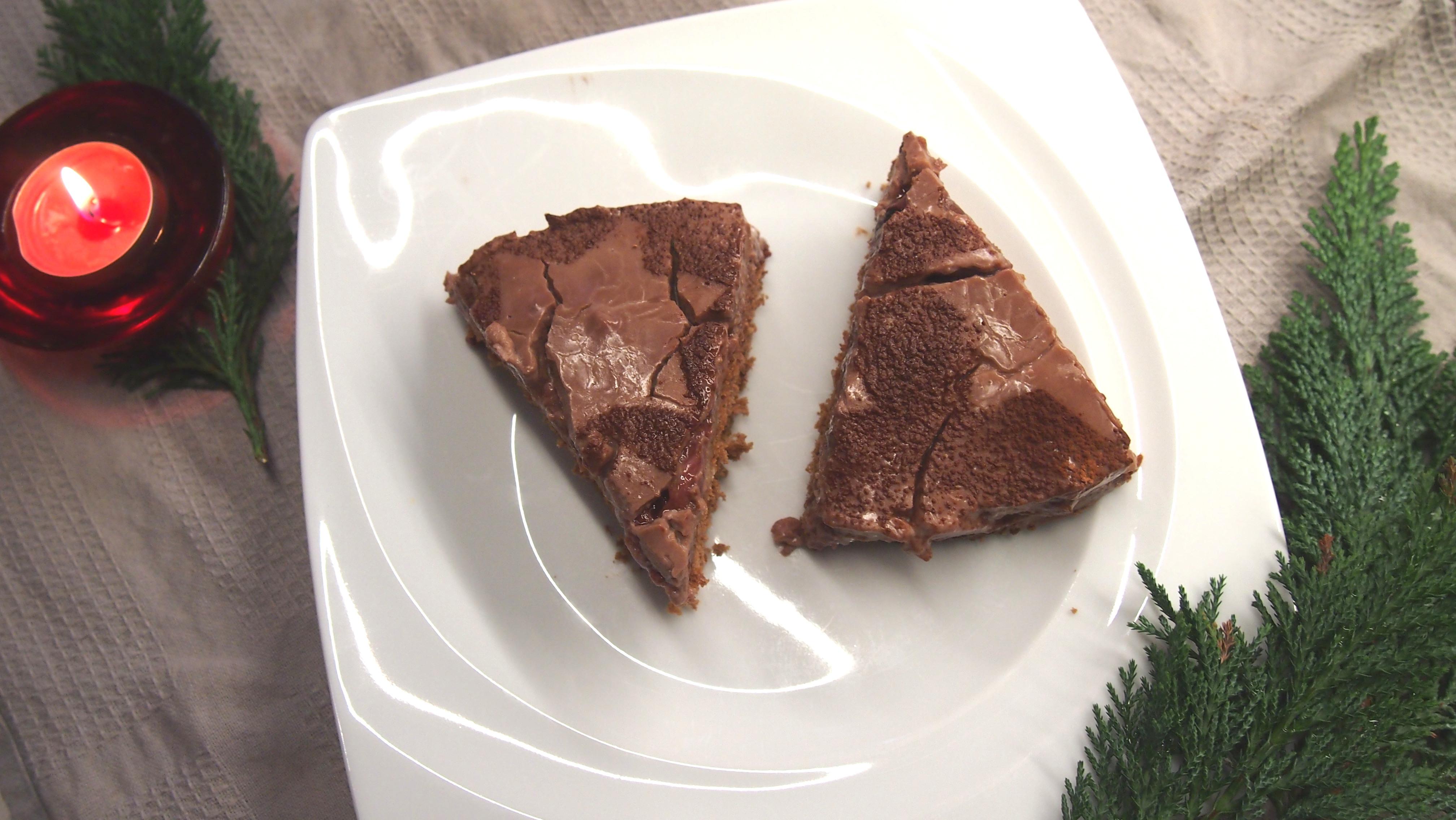 Schokoladen Marzipan Kirsch Torte
