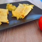 Vollwertige Crêpes mit Apfelkompott
