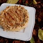 Käsekuchen mit Datteln und Sesammus (vegan)