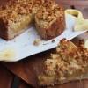 Gesunder Apfelmuskuchen mit Vanillepudding (vegan)