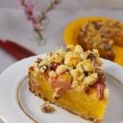 Rhabarberkuchen mit Vanillepudding (vegan)