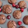 Schokoladige Kirschmuffins (vegan)