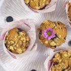 Blaubeermuffins mit Streuseln ohne Zucker