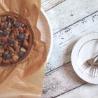 Zuckerfreier Blaubeerkuchen mit Streuseln (vegan)