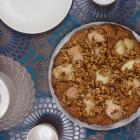 Birnenkuchen mit karamellisierten Walnüssen (vegan)