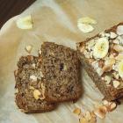 Nussiges Bananenbrot ohne raffinierten Zucker (vegan)