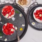 Zuckerfreies Erdbeer Dessert im Glas