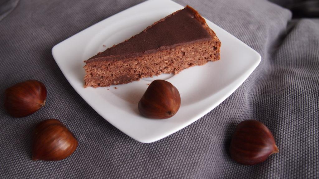 Schokoladiger Kastanienkuchen / Maronenkuchen