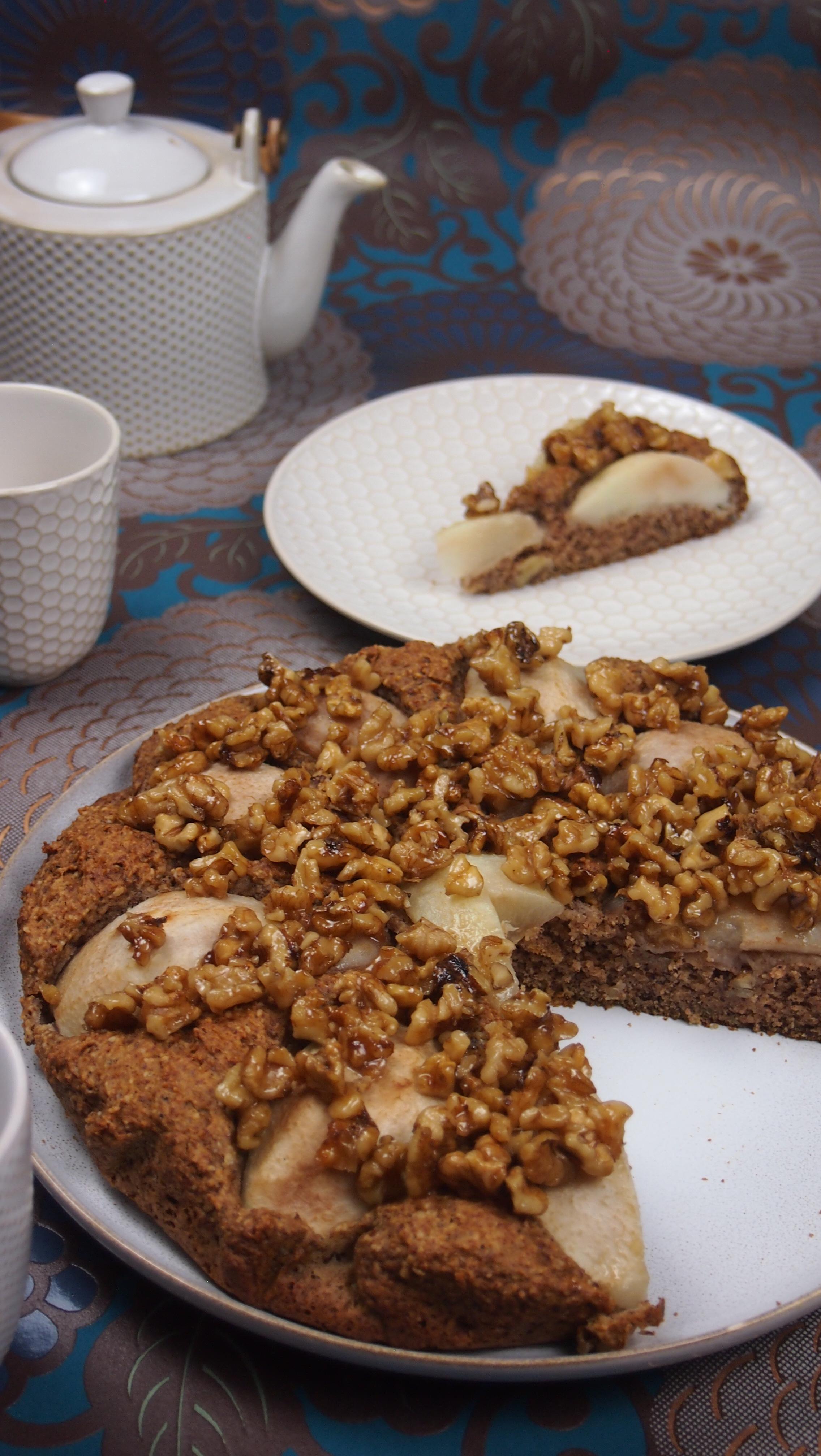 Gesunder Birnenkuchen ohne raffinierten Zucker