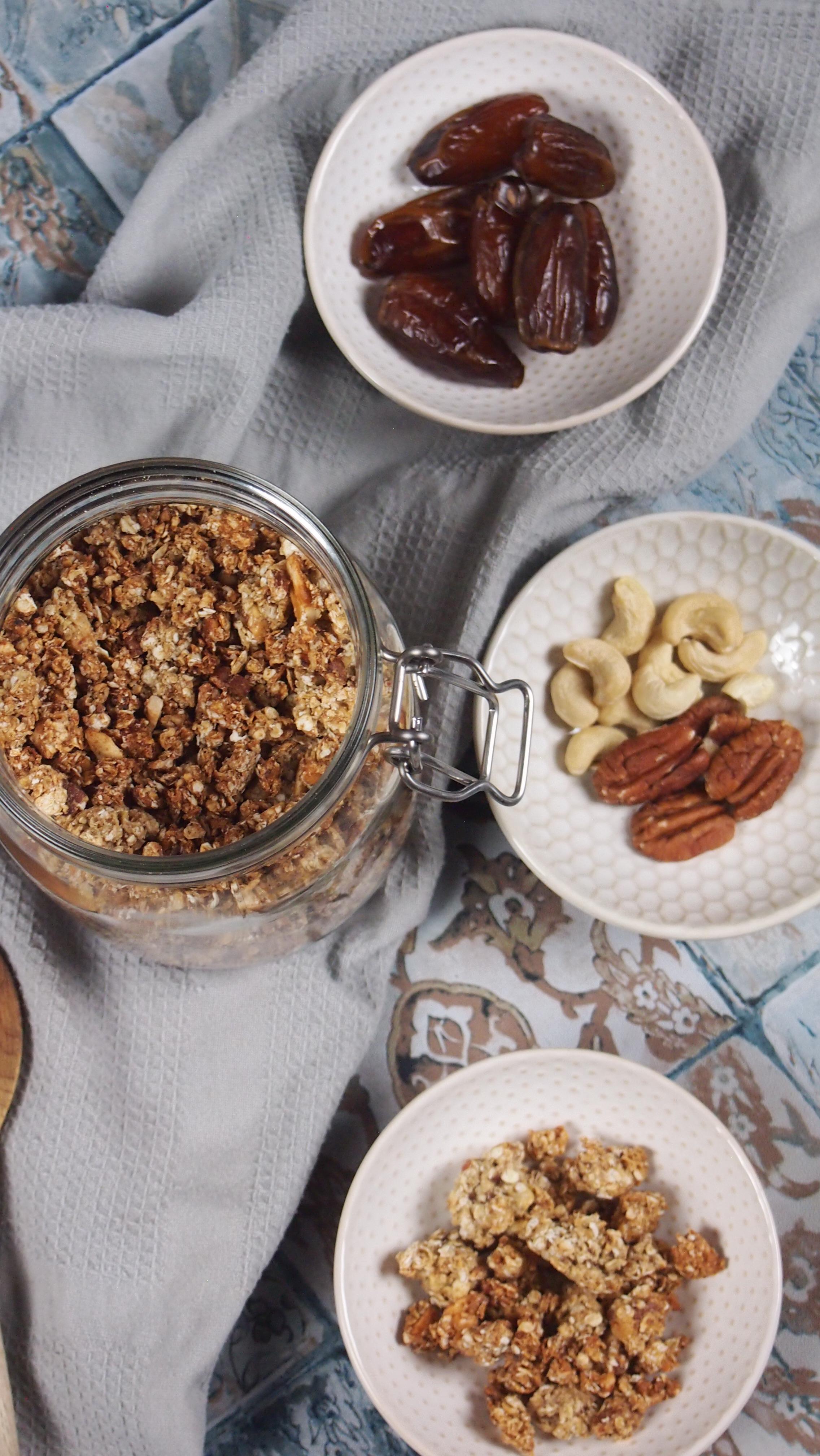 Knuspriges Granola ohne Öl
