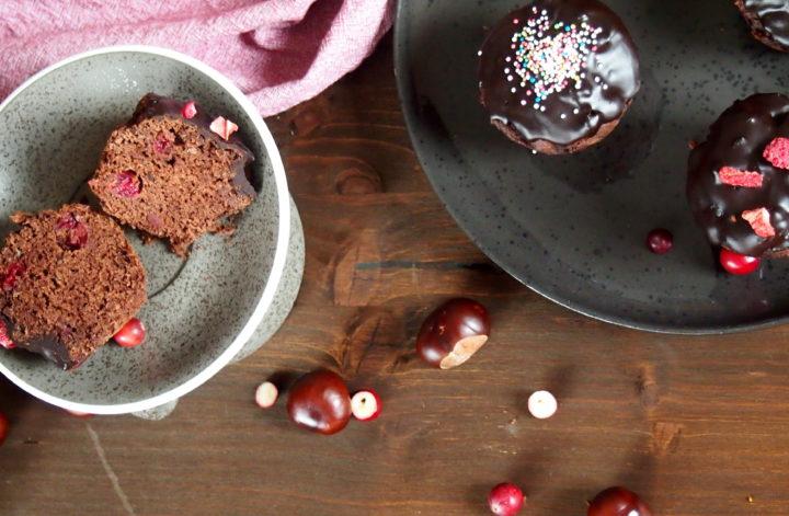 Vegane Schokomuffins ohne raffinierten Zucker